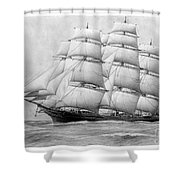 The Clippership Taeping Under Full Sail Shower Curtain