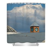 The Clock And The Dome Shower Curtain