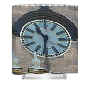 The Clock Shower Curtain