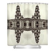 The Clones Of The Church Ruins Sepia Shower Curtain