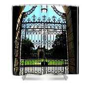 The Gate At Vizcaya Shower Curtain