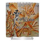 The Closer Shower Curtain by Elaine Duras