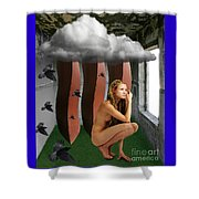 The Cloud Room Shower Curtain