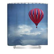 The Clouds Below - Hot Air Balloon Shower Curtain