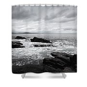 The Cloudy Day In Acadia National Park Maine Shower Curtain