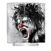 The Clown Shower Curtain by Balazs Solti