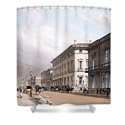 The Club Houses, Pall Mall, 1842 Shower Curtain by Thomas Shotter Boys