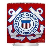 The Coast Guard Shield Shower Curtain