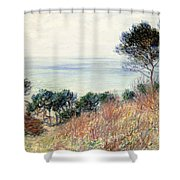 The Coast Of Varengeville Shower Curtain