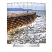 The Cobb - Lyme Regis Shower Curtain