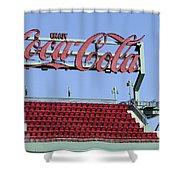 The Coca-cola Corner Shower Curtain