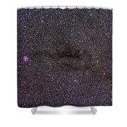 The Cocoon Nebula In The Constellation Shower Curtain by Alan Dyer