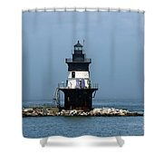 The Coffee Pot Lighthouse Shower Curtain