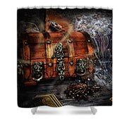 The Coffer Of Spells Shower Curtain