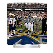 The Coin Toss Shower Curtain