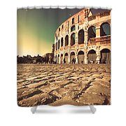 The Coliseum In Rome Shower Curtain