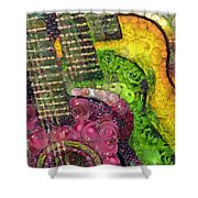 The Color Of Music In The Way Of Arcimboldo Shower Curtain