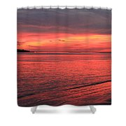 The Color Of Night Shower Curtain