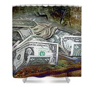 The Color Of The Money Shower Curtain