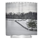 The Color Of Winter - Bw Shower Curtain