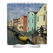 The Colors Of Burano Shower Curtain