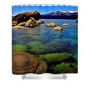 The Colors Of Lake Tahoe Shower Curtain