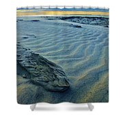 The Colors Of Sand Shower Curtain