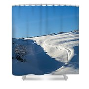 The Colors Of Snow Shower Curtain