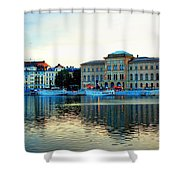 The Colors Of Stockholm Shower Curtain by Jenny Hudson