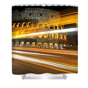 The Colosseum Lights Shower Curtain