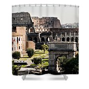 The Colosseum Through The Forum Shower Curtain