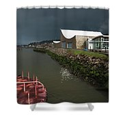 The Columbia River Maritime Museum Sits Shower Curtain