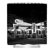 The Comet Roller Coaster - St Louis 1950 Shower Curtain