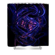 The Coming Abstract Shower Curtain