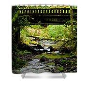 The Coming Of Autumn - Barnes Creek - Lake Crescent - Washington Shower Curtain