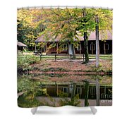 The Commissioners Cabin In Autumn Shower Curtain