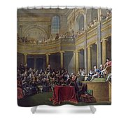 The Committee Of Lyon, 26th January 1802, 1808 Oil On Canvas Shower Curtain