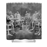 The Committee Reaches Enlightenment II Shower Curtain