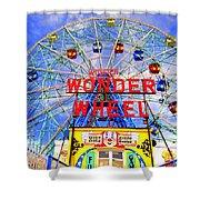The Coney Island Wonder Wheel Shower Curtain