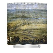 The Conquest Of Lleida Shower Curtain