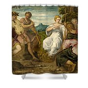 The Contest Between Apollo And Marsyas Shower Curtain