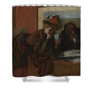 The Conversation, 1885-95 Shower Curtain