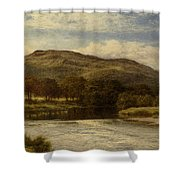 The Conway Near Bettws Y Coed Shower Curtain