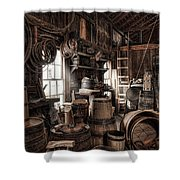The Coopers Shop - 19th Century Workshop Shower Curtain