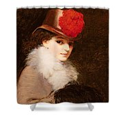 The Coquette, 1863 Shower Curtain