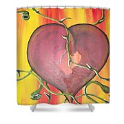 The Core Of My Heart Shower Curtain