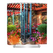 The Corner Cafe Shower Curtain