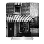 The Corner Deli Shower Curtain