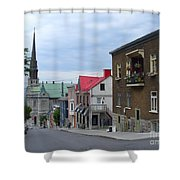 The Corner Of Rue Sainte Claire Overlooking Saint Jean Baptist Church Shower Curtain