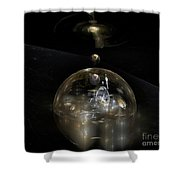 The Cosmic Builder Shower Curtain